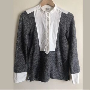 J. Crew Faux Twofer Shirt Sweater Top